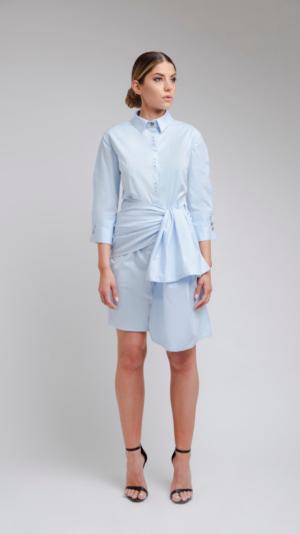 Blue Shirt Dress 2