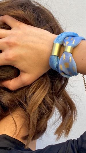 Light blue  necklace - bracelet (2in1) 2
