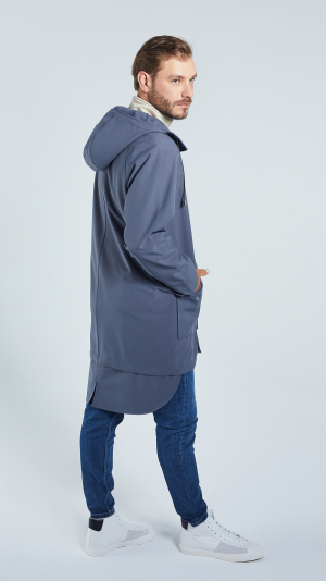 Unisex Grey City Raincoat - recycled materials 1