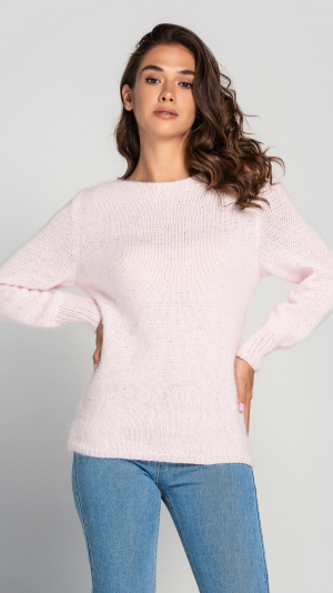 Fluffy Light pink Angora Sweater 2