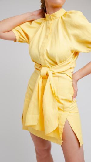 Yellow Short Dress 2