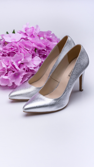 Silver High Heels 1