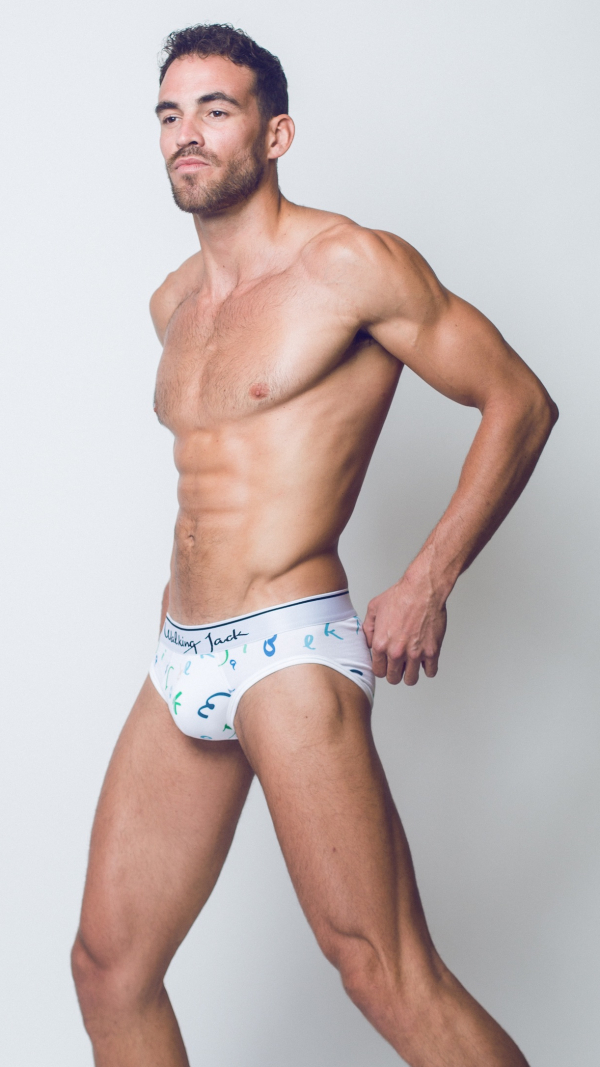 Printed Briefs - Letters Pattern 2