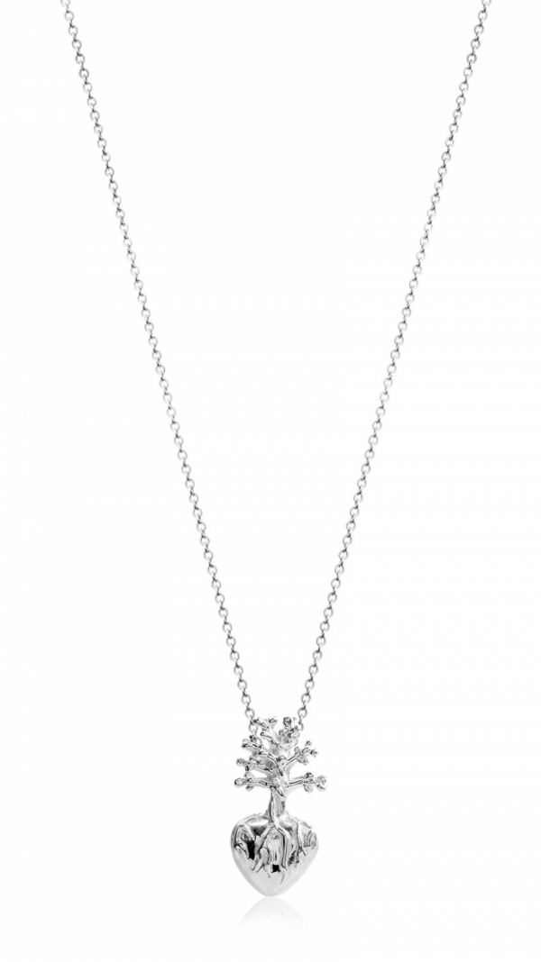 Frida Heart Necklace Small Silver 1