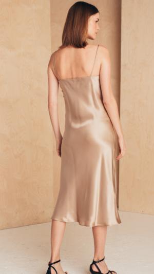 Midi Silk Slip Dress 2