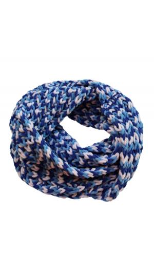 Hand Knitted Scarf Plush Yarn Snood 2