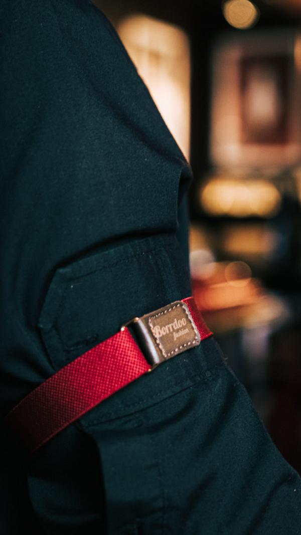 Borrdoo sleeve garters burgundy 1