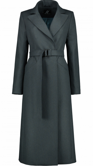 Timeless Icon Green Wool-Blend Coat 1