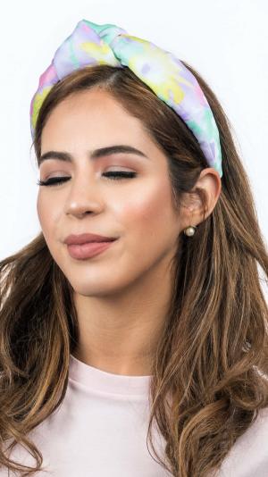 Mixed Pastel Colors Chiffon Headband 1
