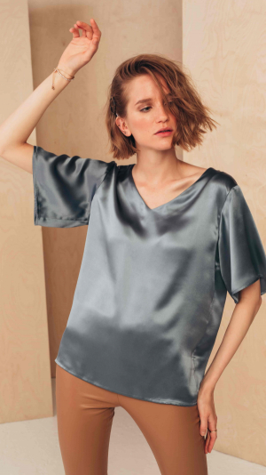 Silk V-Neck Blouse 2