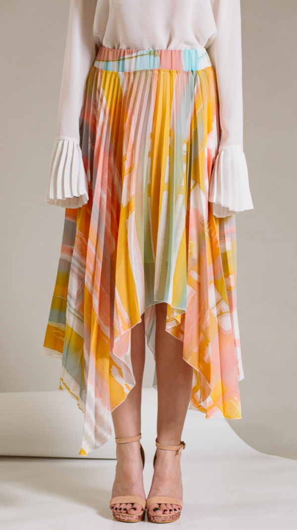 Hand-painted and pleated skirt-collection Ray Charles 2