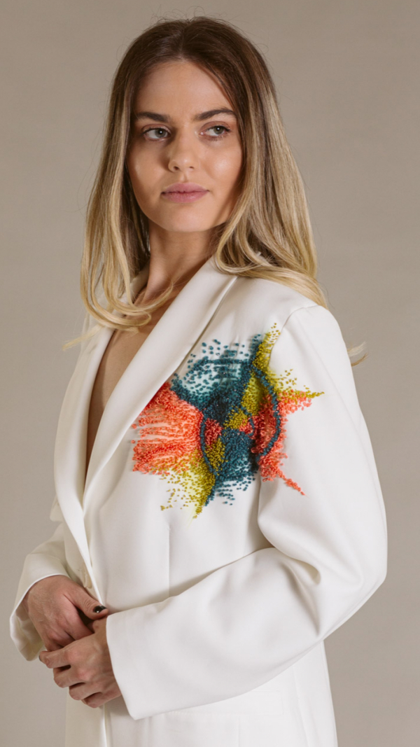 hand_painted_white_woman_suit_golden_ratio_collection