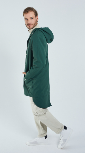 Unisex Green City Raincoat - recycled materials 2
