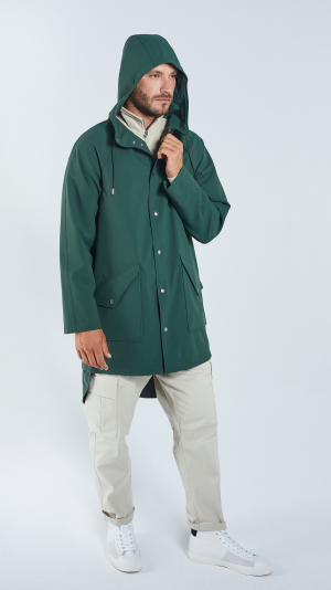 Unisex Green City Raincoat - recycled materials 1