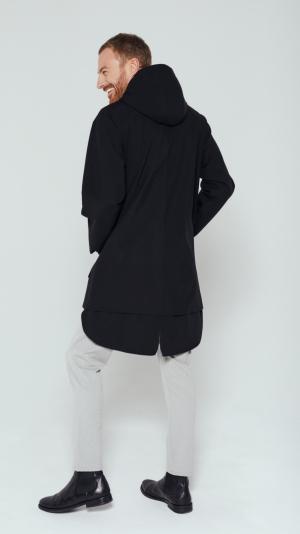 Unisex Black City Raincoat 2
