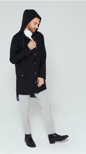 Unisex Black City Raincoat 1
