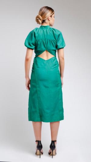 Green DV Dress 2