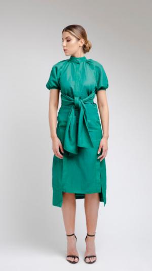 Green DV Dress 1