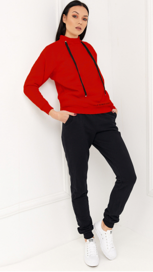 Cosy Home Tracksuit Red & Black 2