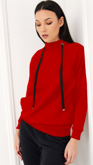 Cosy Home Tracksuit Red & Black 1