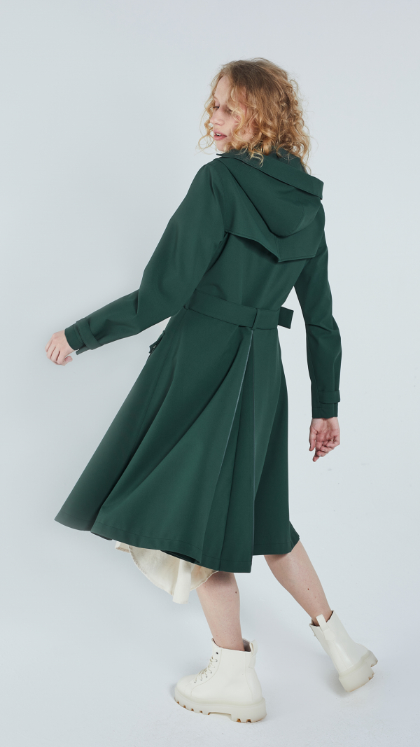 Women's Flare Raincoat - recycled materials 2