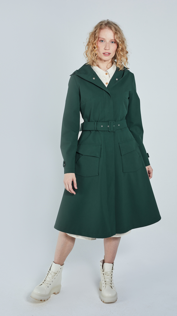Women's Flare Raincoat - recycled materials