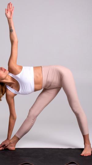 Beige White Yoga set 2