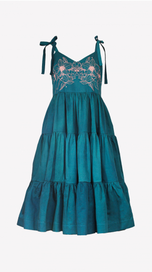 Willow dress in teal 2