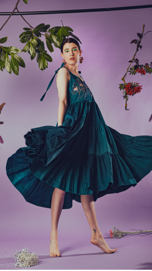 Willow dress in teal 1