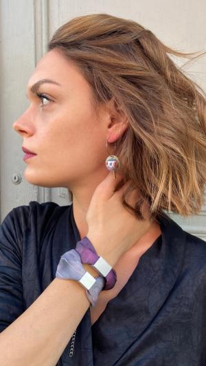 Gray - bordeaux jewelry set 2
