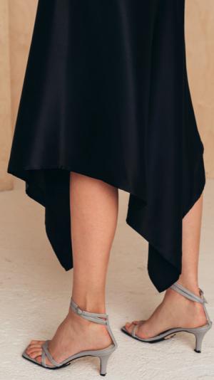 Silk Skirt With Asymmetric Hem 2